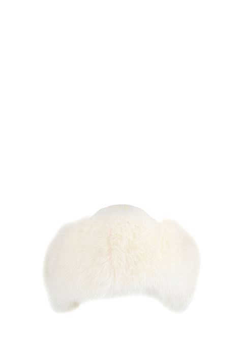 WHITE BAG IN WOOL WITH FUR REGINA | Hats | 90603BIANCO
