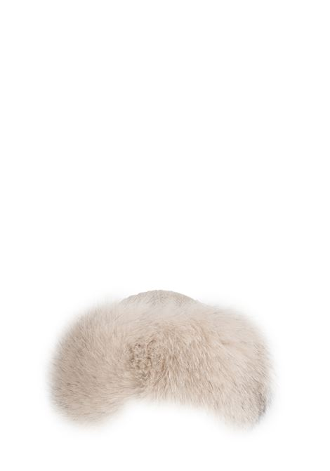 BEIGE BAG IN WOOL WITH FUR REGINA | Hats | 90603ECRU