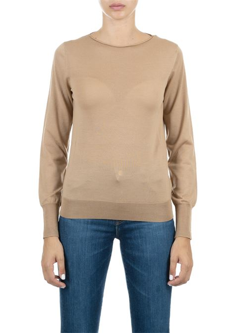 CARAMEL WOOL SWEATER ROBERTO COLLINA | Sweaters | 03006B0305
