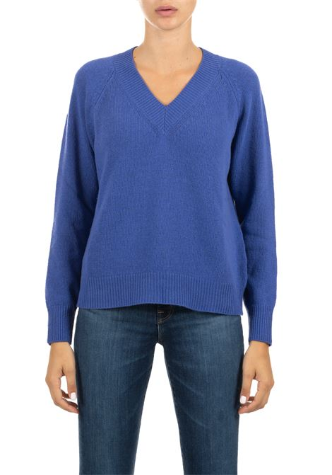 BLUE WOOL SWEATER ROBERTO COLLINA | Sweaters | 40002B4015