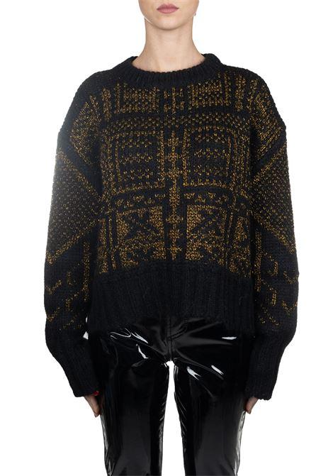 SWEATER BLACK IN MOHAIR AND WOOL ROBERTO COLLINA | Sweaters | 43001/MAXIB4309