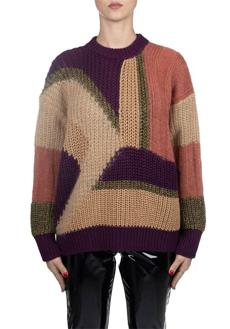 MULTICOLORED WOOL AND MOHAIR SWEATER ROBERTO COLLINA | Sweaters | 48001B4836