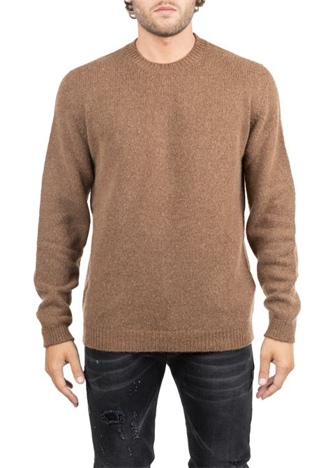 CLASSIC TABACCO WOOL SHIRT ROBERTO COLLINA | Sweaters | RB18001RB1807