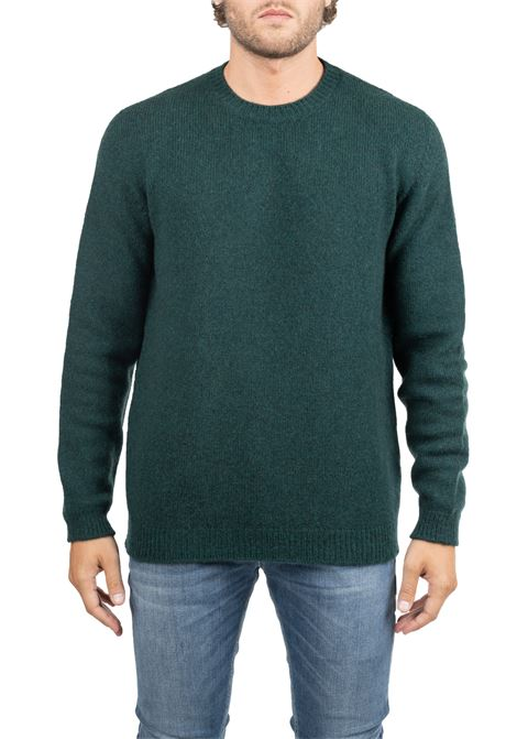 CLASSIC GREEN WOOL SHIRT ROBERTO COLLINA | Sweaters | RB18001RB1826