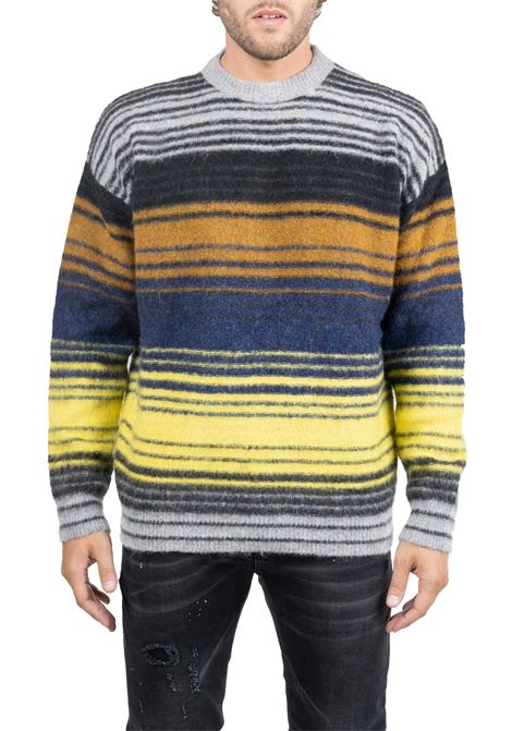 MULTICOLORED SWEATER WITH STRIPED FANTASY ROBERTO COLLINA | Sweaters | RB28001RB2843