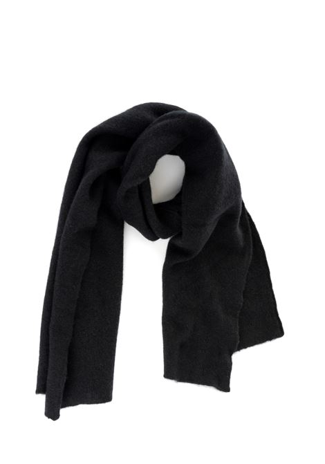BLACK SCARF WITH LOGO ROBERTO COLLINA | Scarfs | RB32050RB3209
