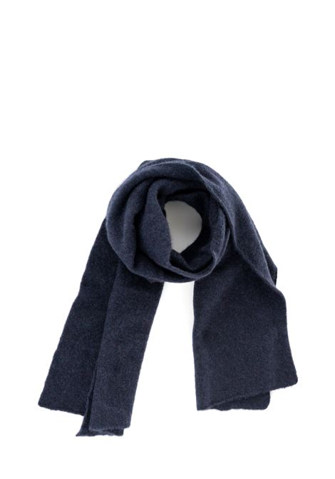 NAVY SCARF WITH LOGO ROBERTO COLLINA | Scarfs | RB32050RB3210