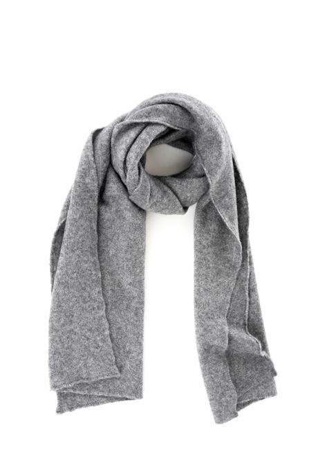 GRAY SCARF WITH LOGO ROBERTO COLLINA | Scarfs | RB32050RB3218