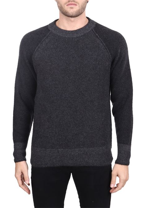 GRAY CASHMERE SWEATER SIDE SLOPE | Sweaters | SSL30002R18