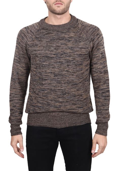 MULTICOLORED KNIT EMBROIDERED IN WOOL SIDE SLOPE | Sweaters | SSL30072R24