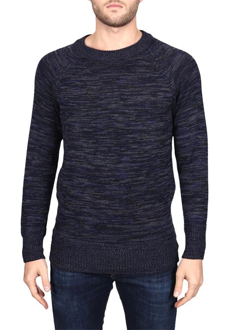 MULTICOLORED KNIT EMBROIDERED IN WOOL SIDE SLOPE | Sweaters | SSL30072R78