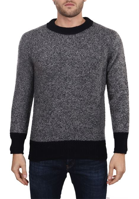 CASHMERE MIXED GRAY SWEATER SIDE SLOPE | Sweaters | SSL30432BK17