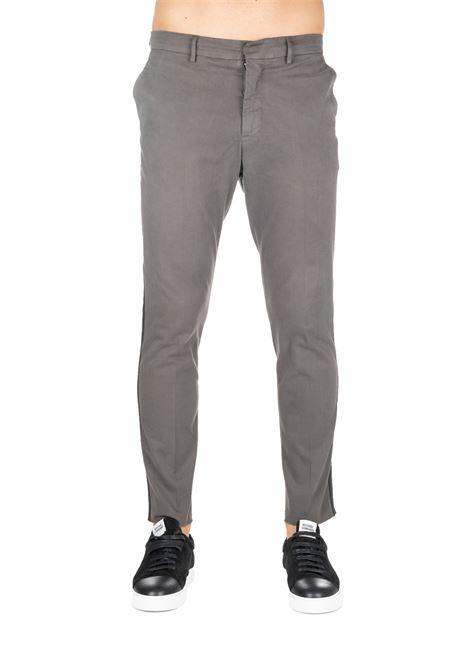 GRAY COTTON PANTS WITH RETRO LOGO APPLICATION THE EDITOR | Pants | E703370T26559139