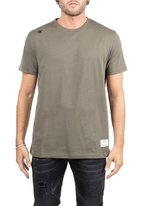 GREEN COTTON T-SHIRT WITH FRONTAL APPLICATIONS THE EDITOR | T-shirt | E70600N1100057
