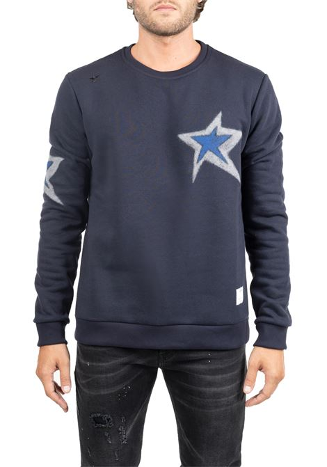 BLUE SWEATSHIRT WITH FRONT BACK APPLICATIONS THE EDITOR | Sweatshirts | E706A38N8120049