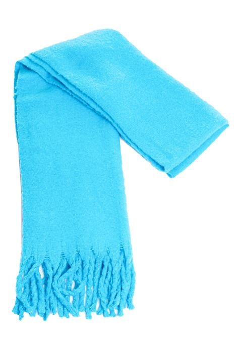 LIGHT BLUE SCARF WITH FRINGES weili zheng | Scarfs | WWZAS13BB4