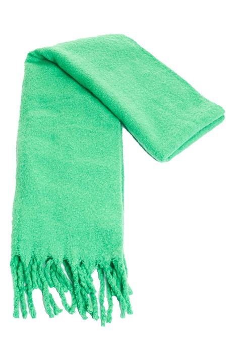 GREEN SCARF WITH FRINGES weili zheng | Scarfs | WWZAS13BG9
