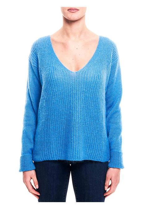 LIGHT BLUE SWEATER IN MOHAIR BLEND weili zheng | Sweaters | WWZKC53L03
