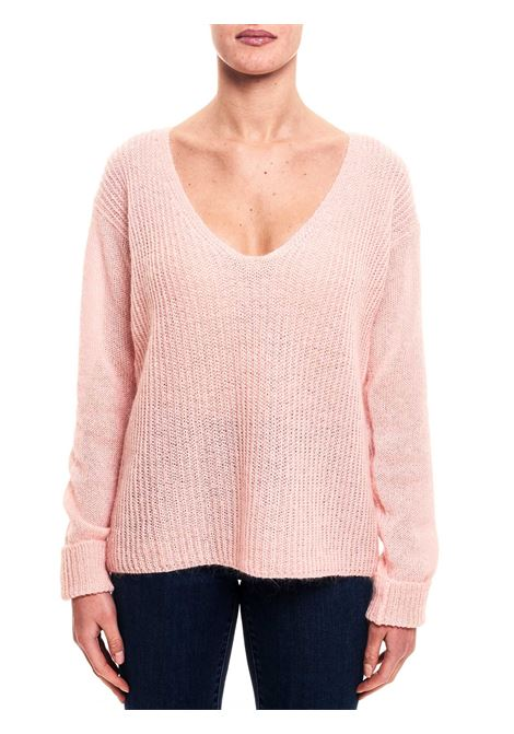 PINK SWEATER IN MOHAI AND WOOL BLEND weili zheng | Sweaters | WWZKC53R13