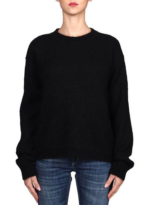 BLACK MESH MOHAIR SWEATER weili zheng | Sweaters | WWZKC54N01