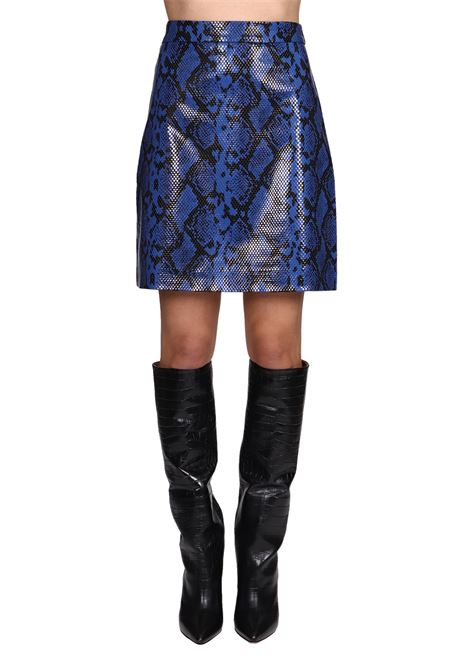 BLUE SKIRT WITH PATTERNED REASON weili zheng | Skirts | WWZPG56BZ9