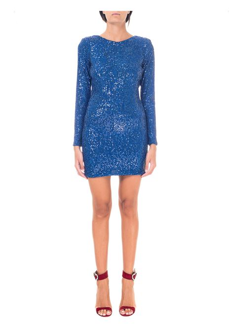 SHORT BLUE SEQUIN DRESS ACTUALEE |  | AB003744COBALTO