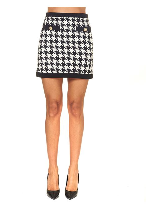 BICOLOR MINI SKIRT WITH 2 FRONT POCKETS ACTUALEE | Skirts | GO003440MULTICOLOR