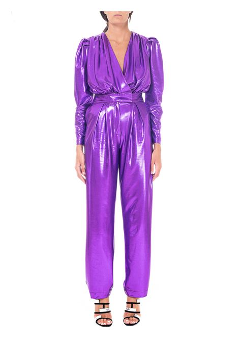 PURPLE JUMPSUIT IN LAMINATED JERSEY ACTUALEE | Jumpsuits | TT000060VIOLA