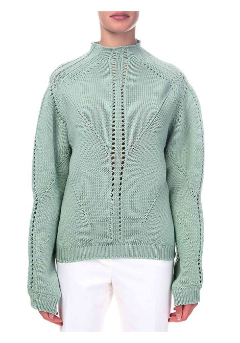 GREEN VIRGIN WOOL SWEATER ALBERTA FERRETTI | Sweaters | A09416605405