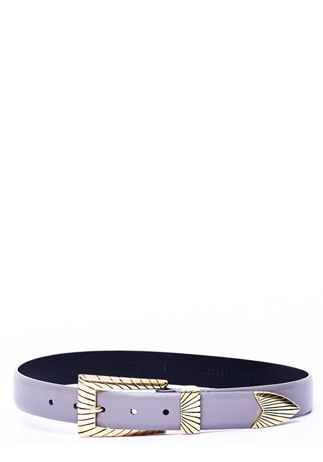 GRAY LEATHER BELT WITH CHISELED BUCKLE ALBERTA FERRETTI | Belts | A300551941505