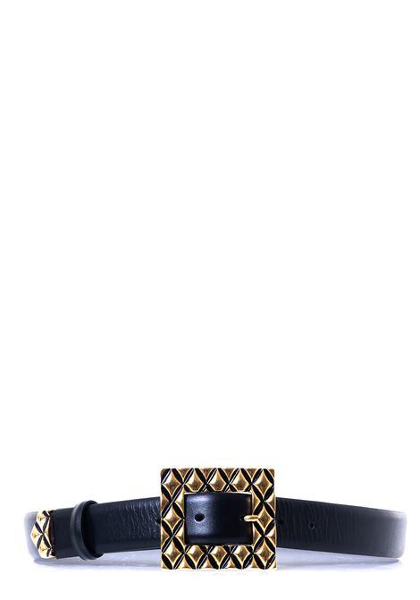 BLACK NAPPA BELT ALBERTA FERRETTI | Belts | A300651941555