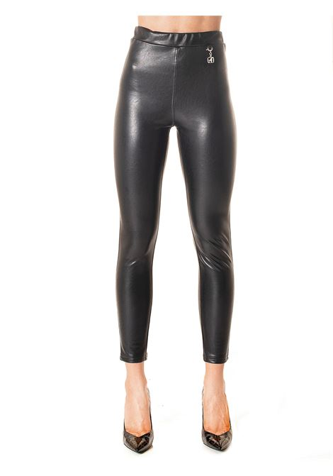 LEGGINGS NERO IN ECOPELLE CAPSULE LIFE IS ALBERTA FERRETTI | Pantaloni | J03296661555