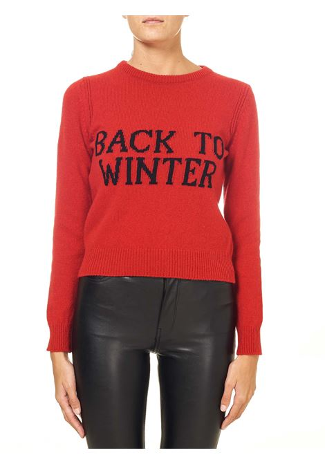 CROPPED RED SWEATER IN CASHMERE AND WOOL BLEND CAPSULE BACK TO WINTER ALBERTA FERRETTI | Sweaters | J093651071111