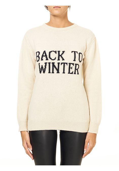 CREAM SWEATER IN CASHMERE AND WOOL BLEND CAPSULE BACK TO WINTER ALBERTA FERRETTI | Sweaters | J093751071002