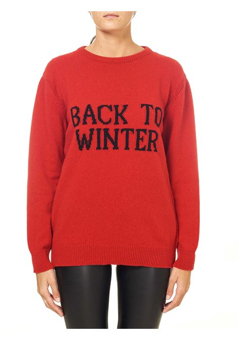 RED SWEATER IN CASHMERE AND WOOL BLEND CAPSULE BACK TO WINTER ALBERTA FERRETTI | Sweaters | J093751071111