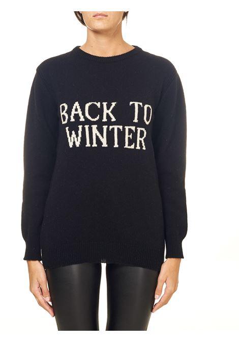 BLACK SWEATER IN CASHMERE AND WOOL BLEND CAPSULE BACK TO WINTER ALBERTA FERRETTI | Sweaters | J093751071555