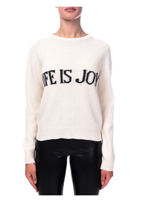 CREAM SWEATER IN CASHMERE AND WOOL CAPSULE LIFE IS JOY ALBERTA FERRETTI | Sweaters | J095366031003