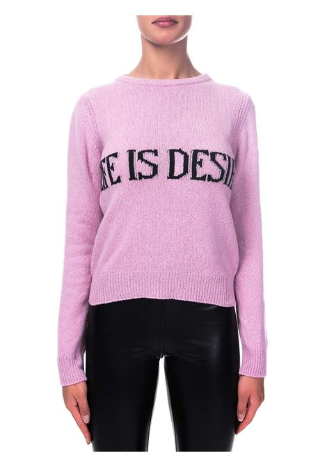 PINK SWEATER IN CASHMERE AND WOOL CAPSULE LIFE IS DESIRE ALBERTA FERRETTI | Sweaters | J095366031240