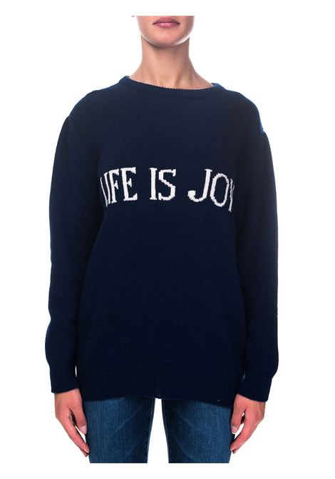 BLUE SWEATER IN CASHMERE AND WOOL CAPSULE LIFE IS JOY ALBERTA FERRETTI | Sweaters | J096766031342