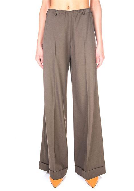 WIDE-LEG PANTS IN WOOL CANVAS ALYSI | Pants | 150105A0047ARGILLA