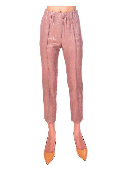 PANTALONI ROSA IN MOIRE' LUREX ALYSI | Pantaloni | 150158A0256CAPPUCCINO