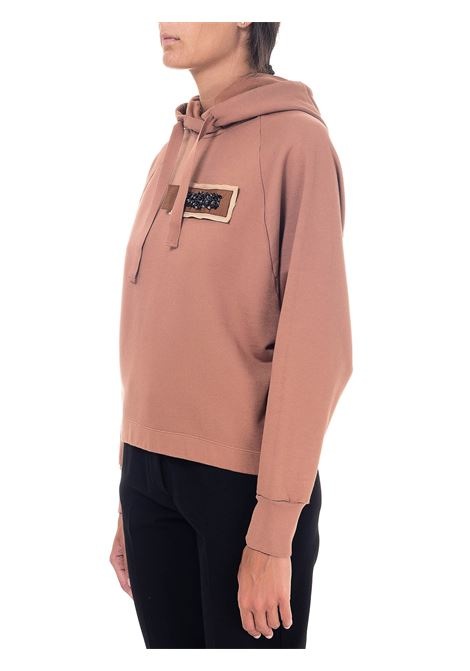 PINK COTTON SWEATSHIRT WITH FRONT APPLICATION ALYSI | Sweatshirts | 150434A0254CARNE