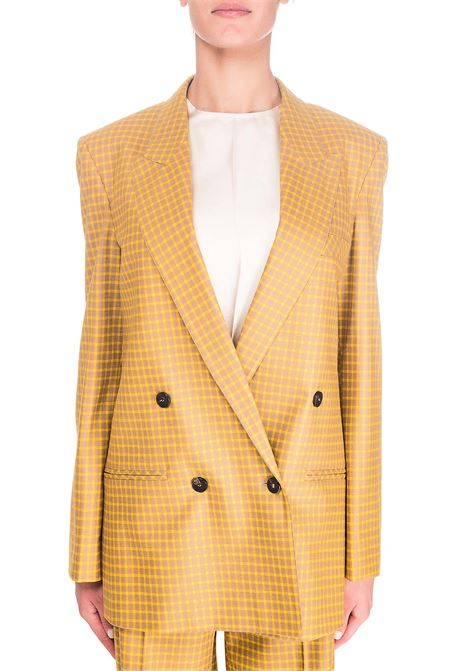DOUBLE-BREASTED CHECK WOOL JACKET ALYSI | Jackets | 150811A0040SOLE