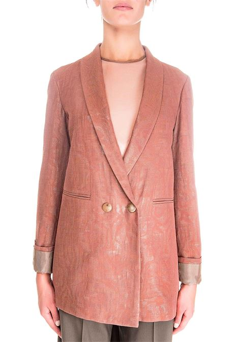 DOUBLE BREASTED LUREX MOIRE 'BLAZER ALYSI | Jackets | 150829A0256CAPPUCCINO