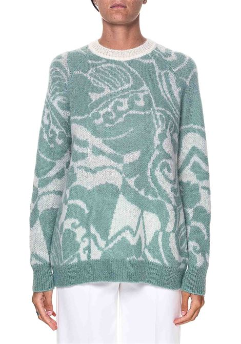 FANTASY JACQUARD SWEATER IN A MOHAIR AND WOOL BLEND ALYSI | Sweaters | 250439A0007GIADA