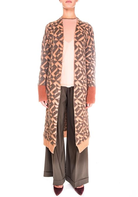 LONG CARDIGAN IN WOOL AND MOHAIR ALYSI | Cardigans | 250444A0046NUDO