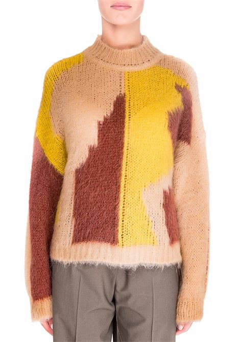 INTARSIA MULTICOLOR SWEATER ALYSI | Sweaters | 250446A0041BLUSH