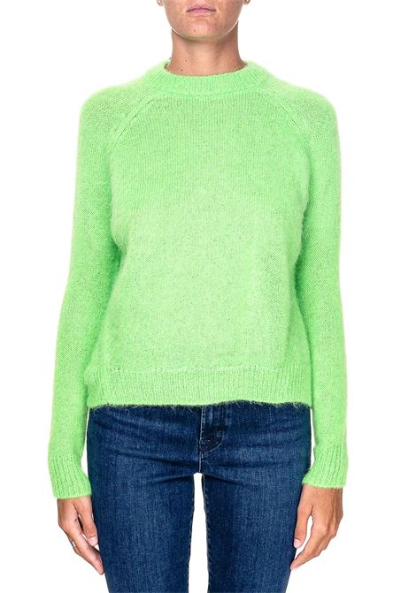 COLORFUL GREEN FLUO SWEATER IN MOHAIR BLEND ALYSI | Sweaters | 250453A0227NEON