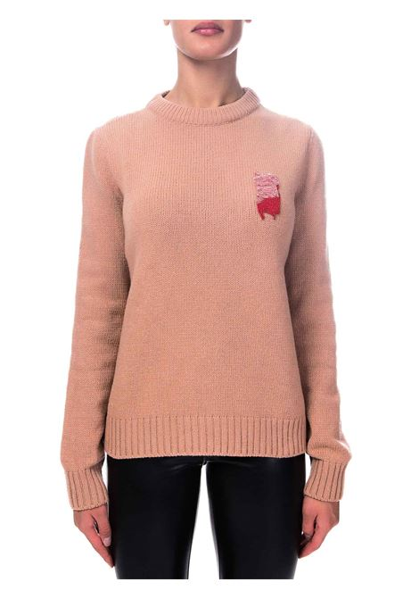 WOOL SWEATER WITH EMBROIDERY ALYSI | Sweaters | 250472A0239CARNE