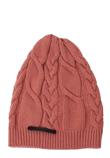 PINK HAT WITH FRONT LOGO APPLICATION ATos lombardini | Hats | A5PP08054ROSA